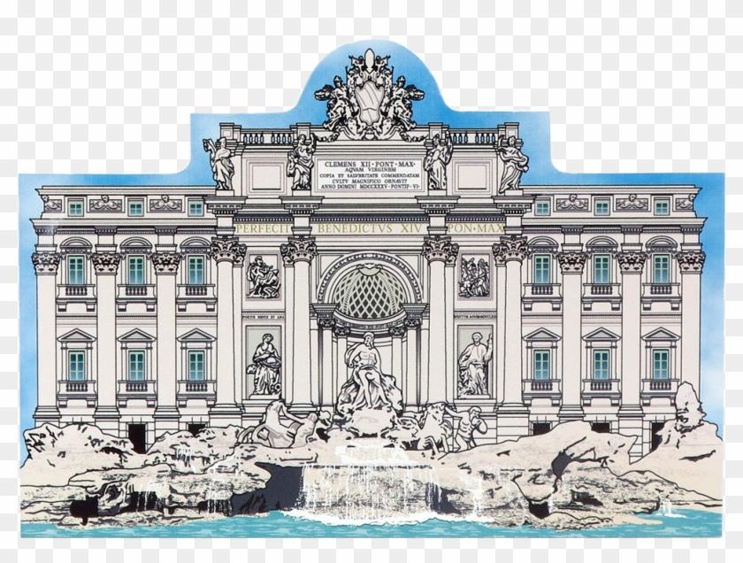 Trevi fountain clipart clip art black and white library Rome Trevi Fountain Clip Art, HD Png Download - 1000x709 ... clip art black and white library