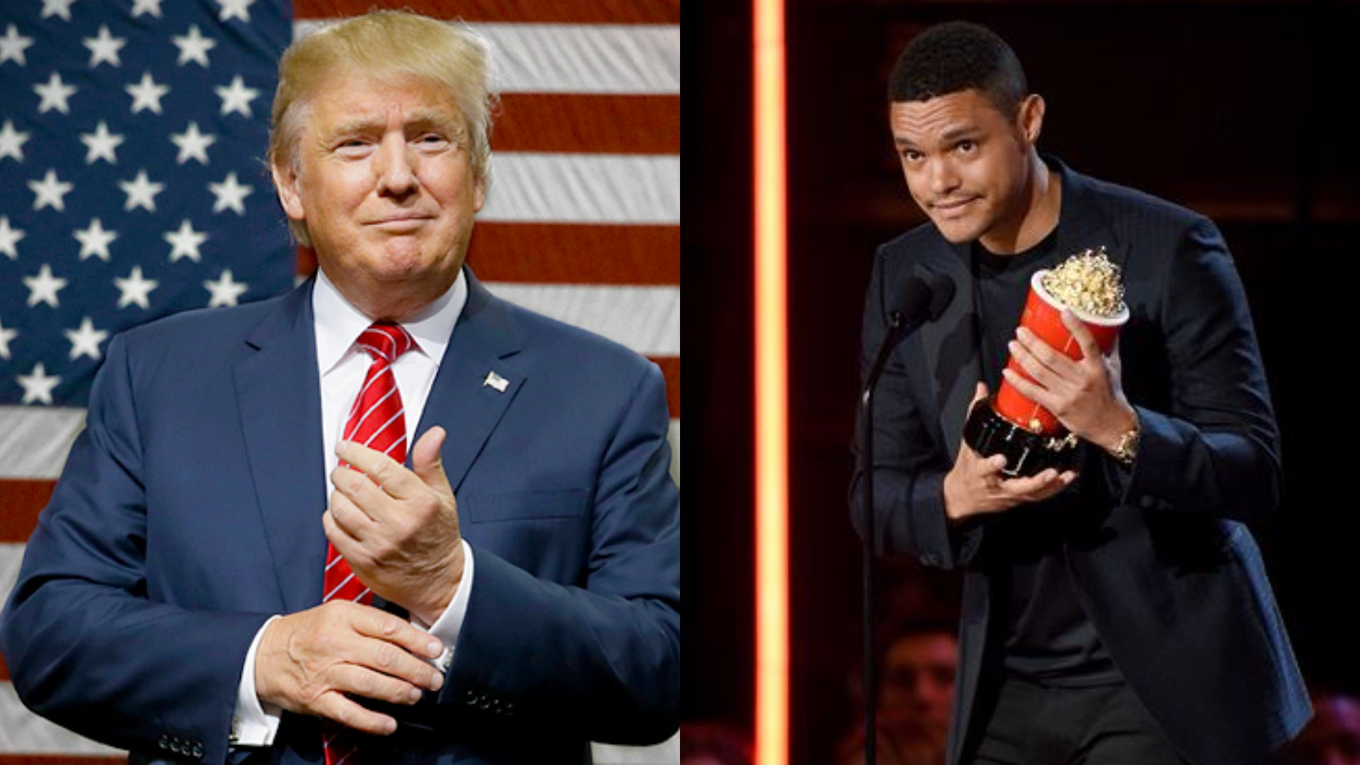 Trevor noah donald trump clipart thank you tour download Trevor Noah thanks Donald Trump after winning an award ... download
