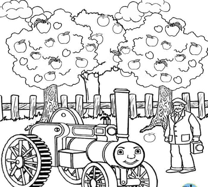 Trevor the traction engine clipart png transparent library Kids Free online coloring pages Thomas train printable ... png transparent library