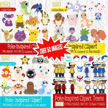 Poke-Inspired Clipart: The Bundle graphic download