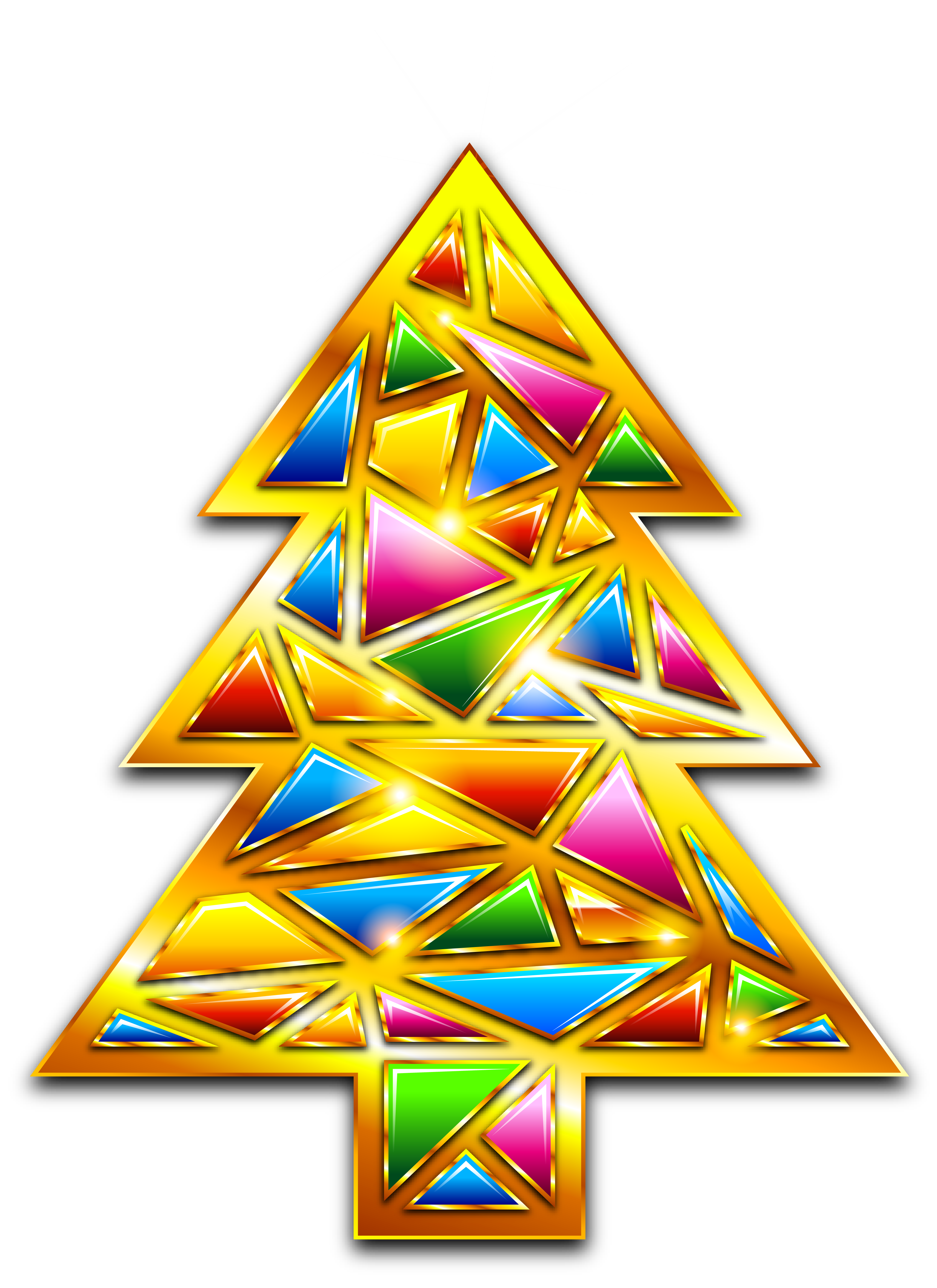 Gold Christmas Mosaic Tree Transparent PNG Clipart | Gallery ... banner free library