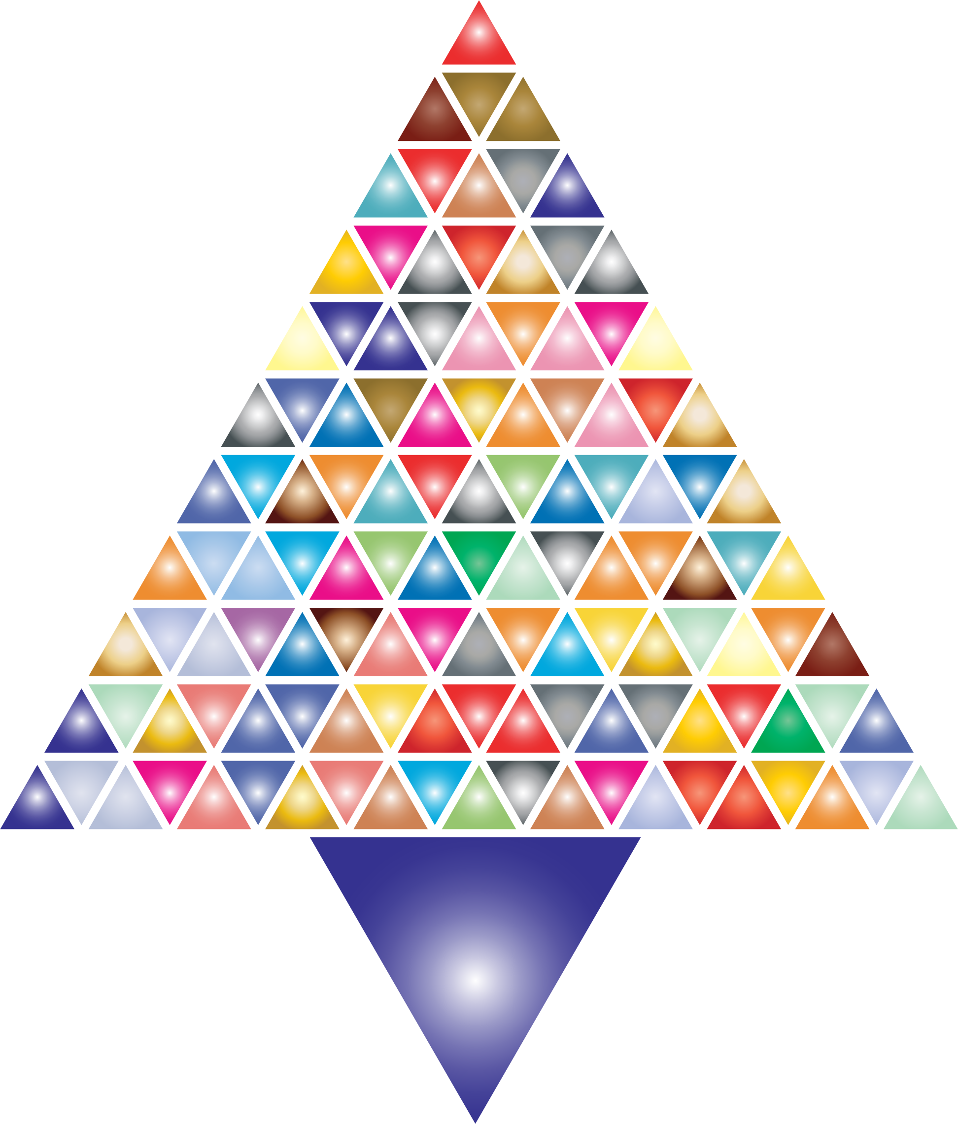 Clipart - Prismatic Abstract Triangular Christmas Tree 2 image black and white
