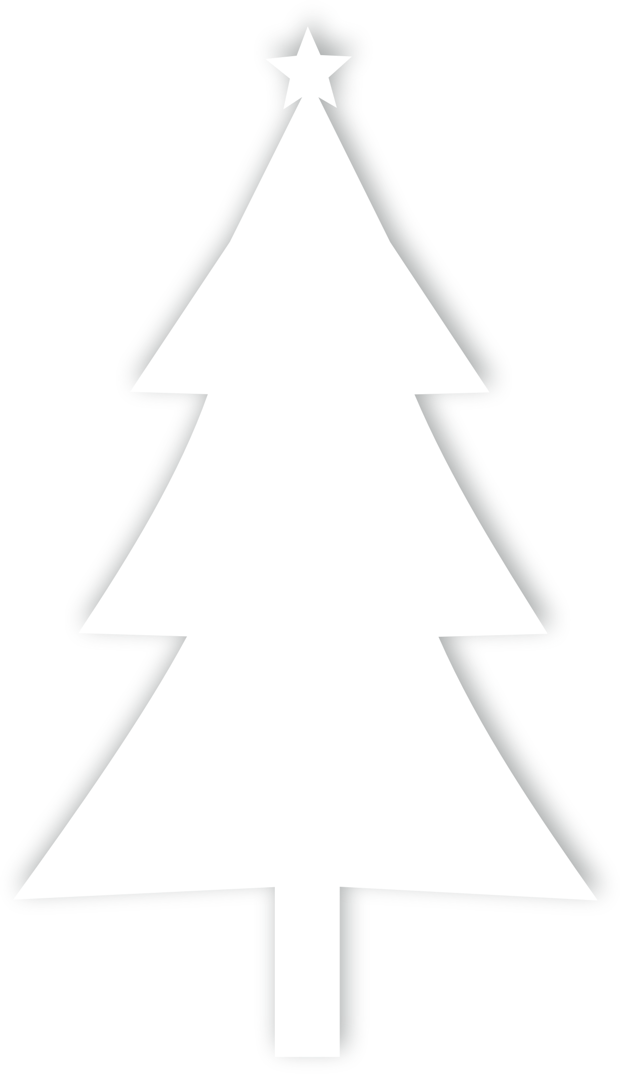 Triangle christmas tree clipart black and white image free Clipart - Christmas tree Silhouette image free