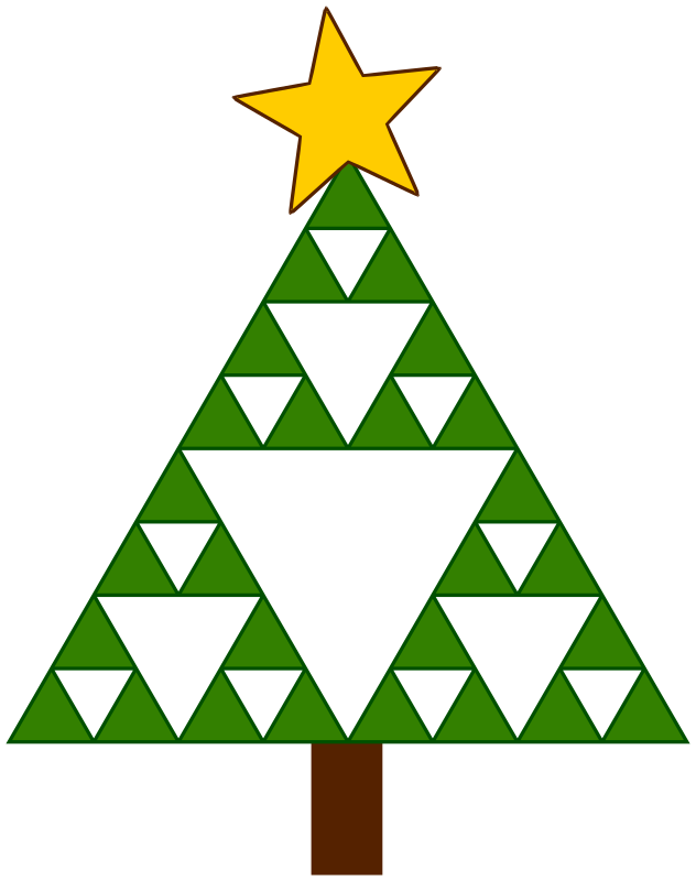 Clipart - Sierpinski Xmas Tree vector freeuse stock