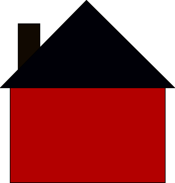 Triangle house clipart