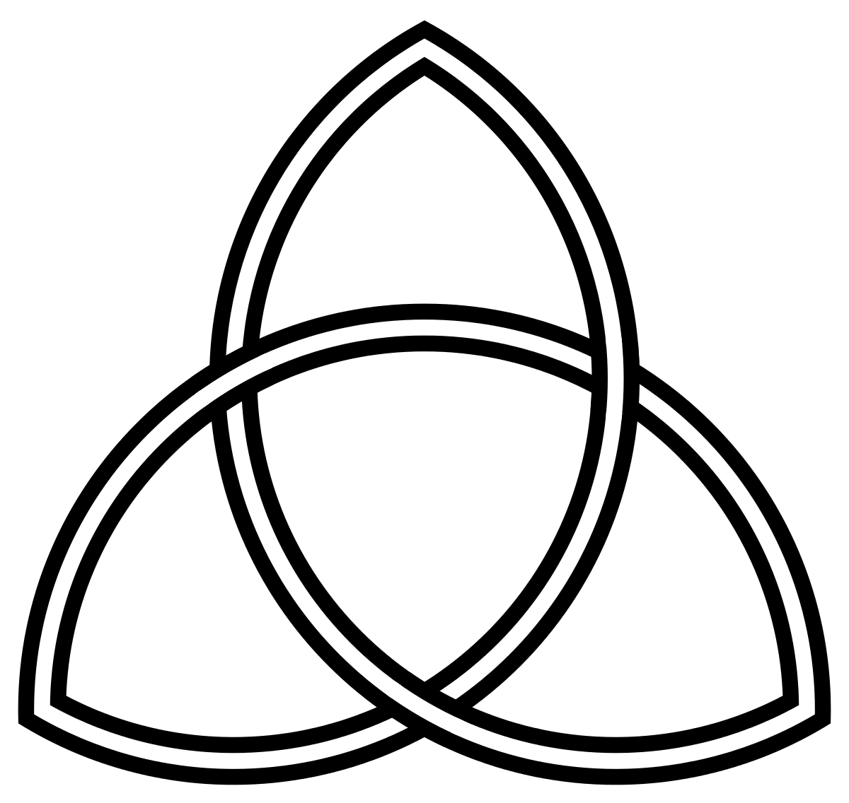 Triangle of Unity in the middle points DOWN- movement toward matter ... png black and white download