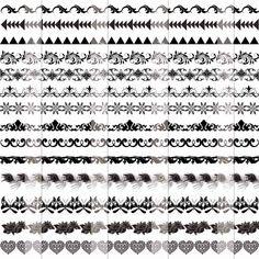 Tribal arrow border clipart graphic transparent Colorful arrow Borders Clipart, Digital tribal frame clip art for ... graphic transparent