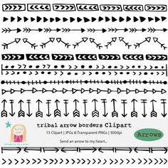 Tribal arrow border clipart clip freeuse Tribal arrow border clipart - ClipartFest clip freeuse