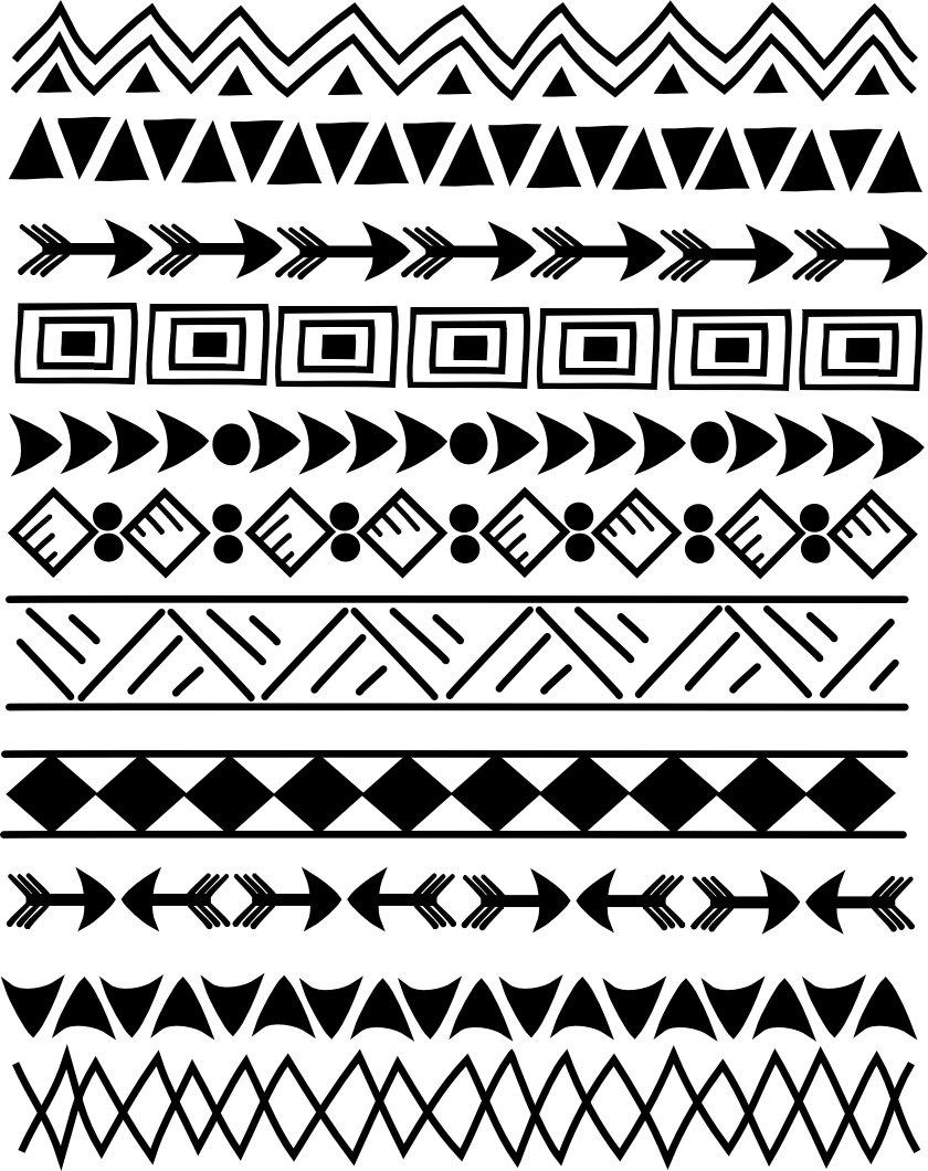 Tribal arrow border clipart graphic freeuse stock Tribal border clip art - ClipartFest graphic freeuse stock