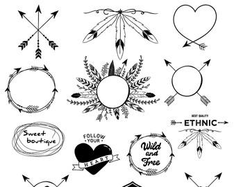 Tribal arrow circle clipart clip art freeuse download Aztec arrow clipart | Etsy clip art freeuse download