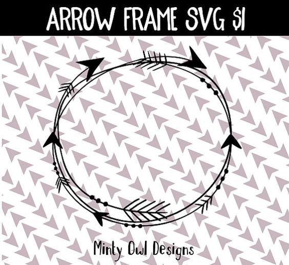Tribal arrow circle clipart graphic free Tribal Circle Arrow Frame Monogram Frame SVG by MintyOwlDesigns ... graphic free