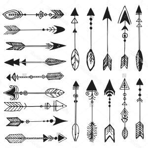 Tribal arrow clipart black and white clip art transparent Excellent Tribal Arrow Clipart Vector Graphic   VectoRealy clip art transparent