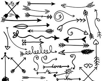 Tribal arrow clipart black and white jpg free download Items similar to tribal arrows clip art, hand drawn arrows instant ... jpg free download