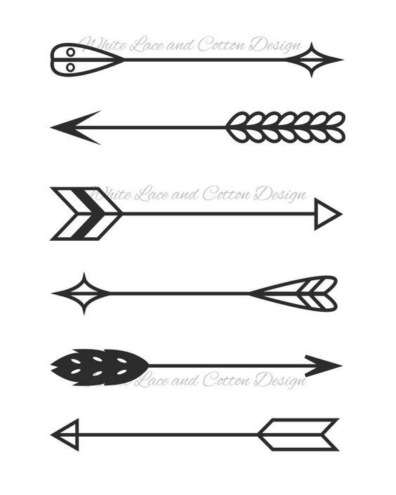 Tribal arrow clipart black and white single picture free library Printable Digital Illustration - Arrows - Two Styles - Art, Home ... picture free library