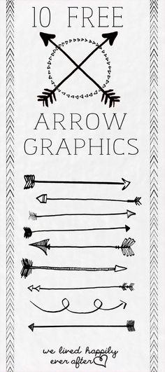 Tribal arrow clipart black and white single banner black and white download FREE Arrow Graphics (PNG) by Orchard Girls | Room Parents ... banner black and white download