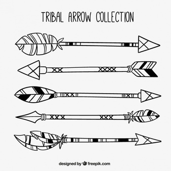 Tribal arrow clipart black and white single graphic free Black Arrow Vectors, Photos and PSD files | Free Download graphic free