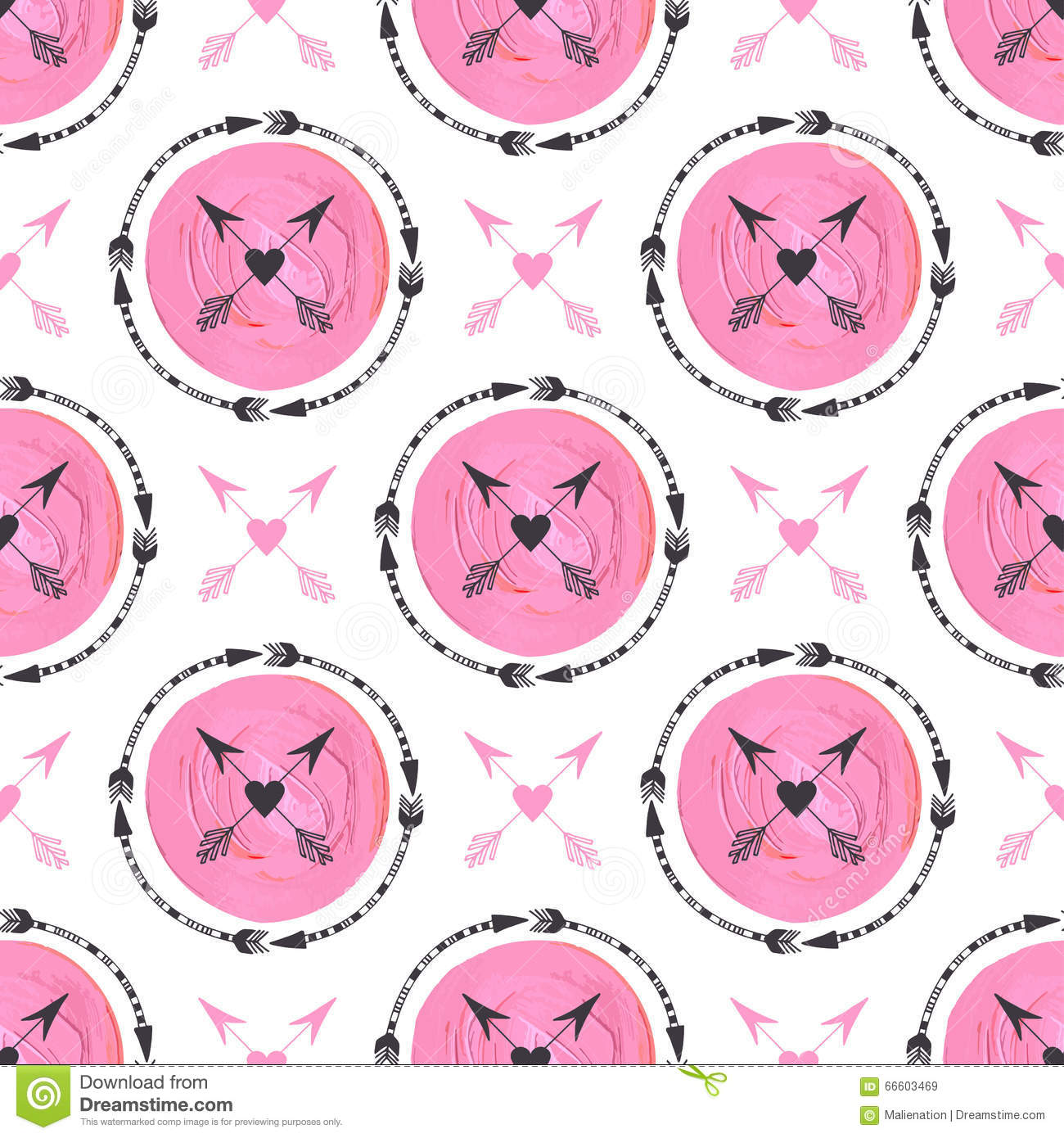 Tribal arrow clipart circle vector free Fashion Background With Arrows And Pink Circles Ornament ... vector free