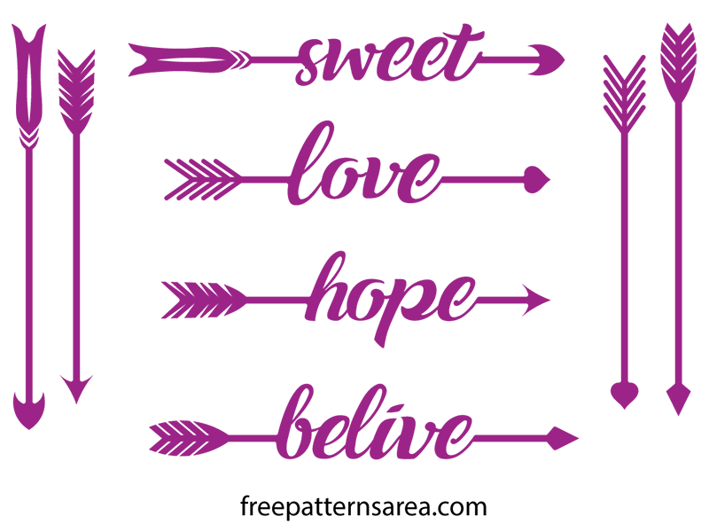 Tribal arrow clipart free png library download Arrow Silhouette Vector Art & Stencil Cut Files | Font free, Svg ... png library download