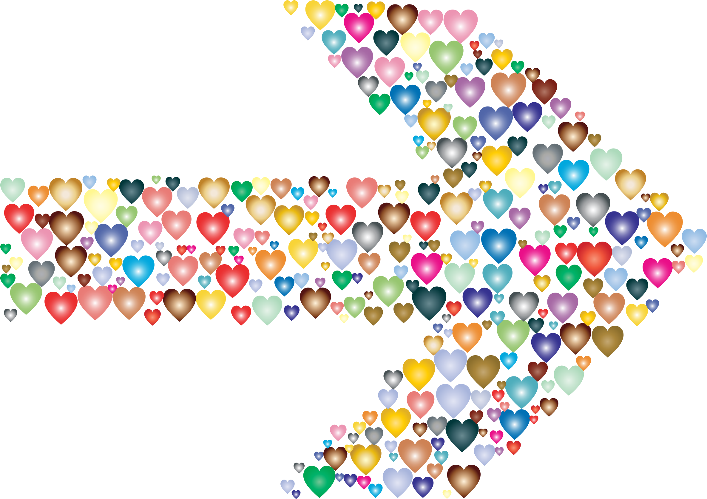 Tribal arrow clipart heart vector freeuse download Colorful Hearts Arrow 2 Icons PNG - Free PNG and Icons Downloads vector freeuse download