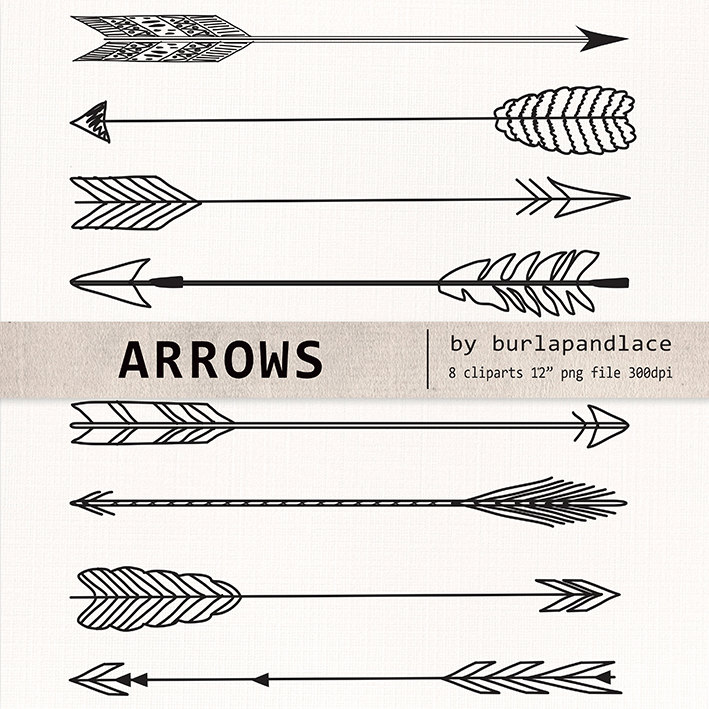 Tribal arrow clipart png clip art black and white download Hand drawn arrow indian style clipart png - ClipartFest clip art black and white download