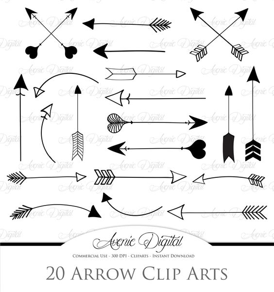 Tribal arrow clipart vector clip art black and white download Arrows Clipart and Vectors | Creative and Arrows clip art black and white download