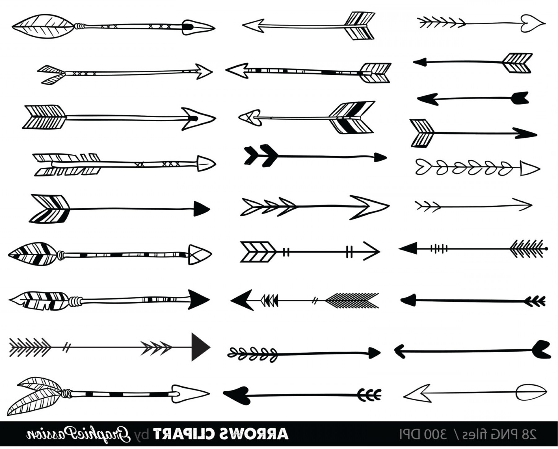 Tribal arrow clipart vector png download Top Tribal Arrow Vector Layout | VectoRealy png download