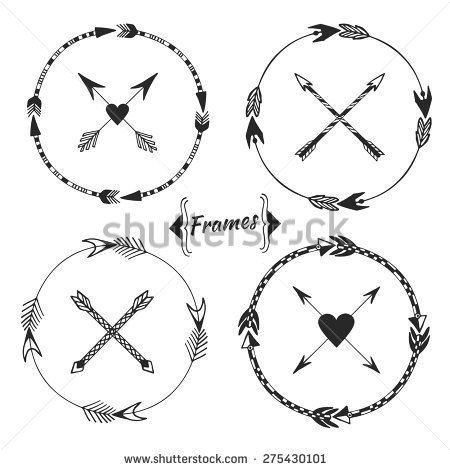 Tribal arrow clipart vector picture black and white library Arrow tribal art free vector download (210,126 Free vector) for ... picture black and white library