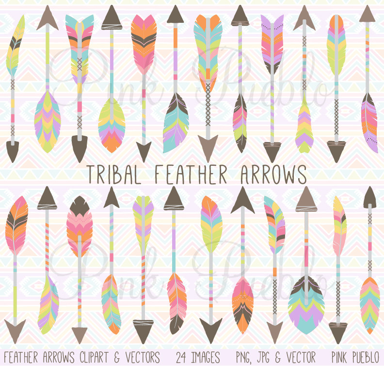 Tribal arrow feather clipart black and white stock Tribal arrow feather clipart - ClipartFest black and white stock