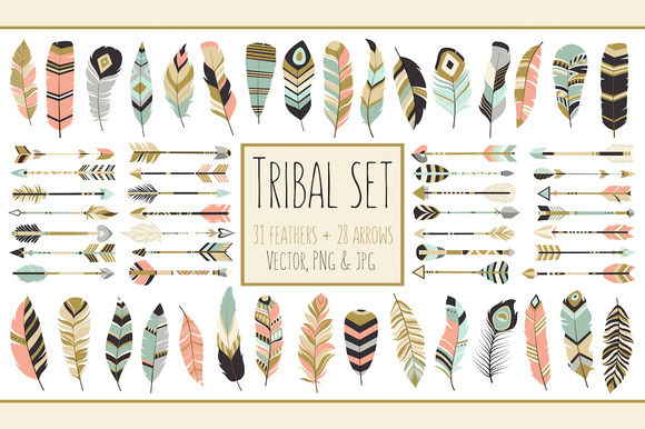Tribal arrow feather clipart graphic royalty free stock 59 Arrows & Feathers Tribal Clipart | Creative, Vector clipart and ... graphic royalty free stock