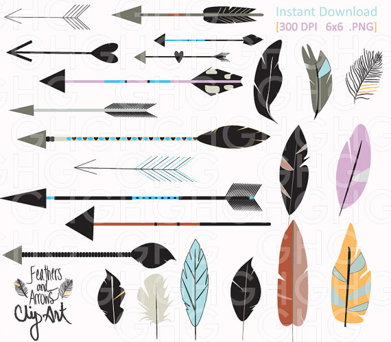 Tribal arrow feather clipart svg freeuse download Tribal arrow feather clipart - ClipartFest svg freeuse download