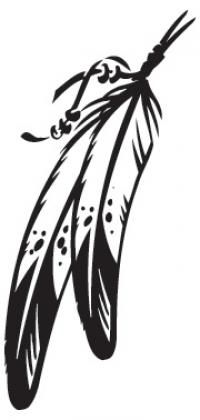 Tribal arrow feather clipart black and white banner library Tribal Feather Clipart - Clipart Kid banner library