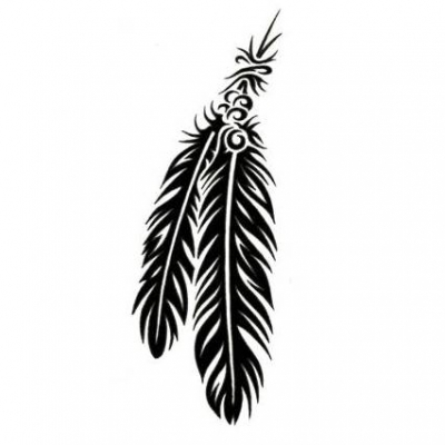 Tribal arrow feather clipart black and white vector freeuse Tribal feather clipart - ClipartFest vector freeuse