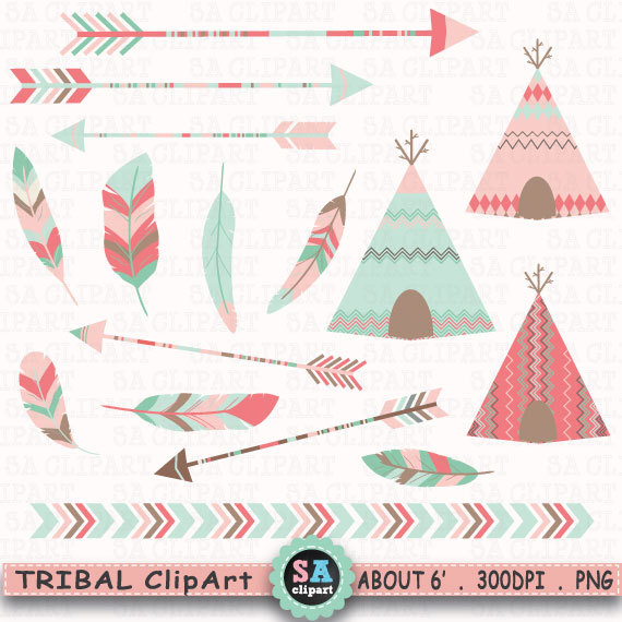 Tribal arrows border clipart library Tribal Clipart \