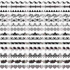 Tribal arrows border clipart black and white stock Tribal arrow border clip freeuse library png files, Free ... black and white stock