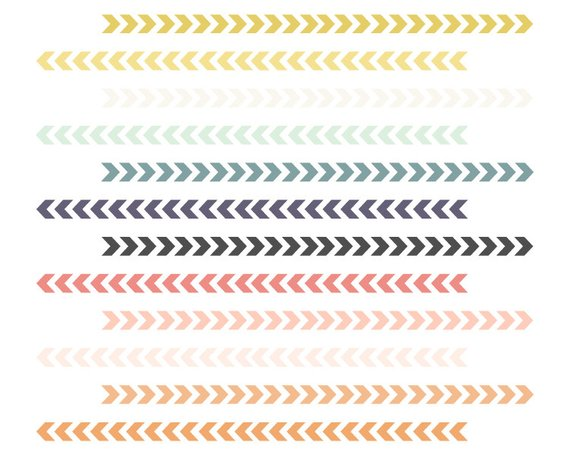 Tribal arrows border clipart jpg freeuse download Chevron Arrow Borders // Tribal Borders // Instant Download ... jpg freeuse download
