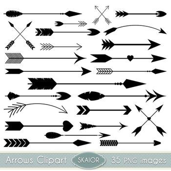 Arrows Clipart Black Arrows Clip Art Tribal Scrapbooking Aztec Native  American graphic stock