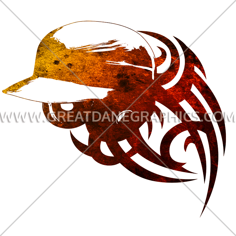 Baseball Helmet Tribal Stylized | Production Ready Artwork for T ... graphic royalty free download