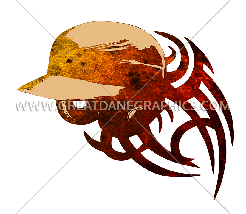 Baseball Helmet Tribal Stylized | Production Ready Artwork for T ... png library library