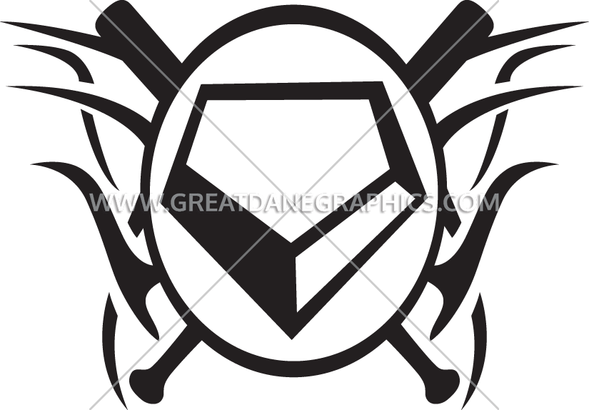 Tribal Home Plate | Production Ready Artwork for T-Shirt Printing jpg library stock