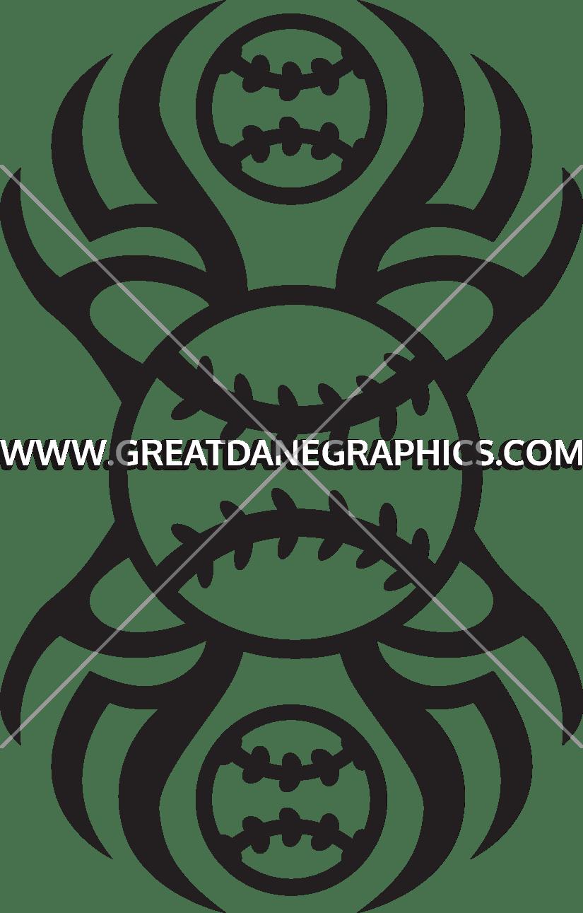 Tribal Baseballs | Production Ready Artwork for T-Shirt Printing png library download