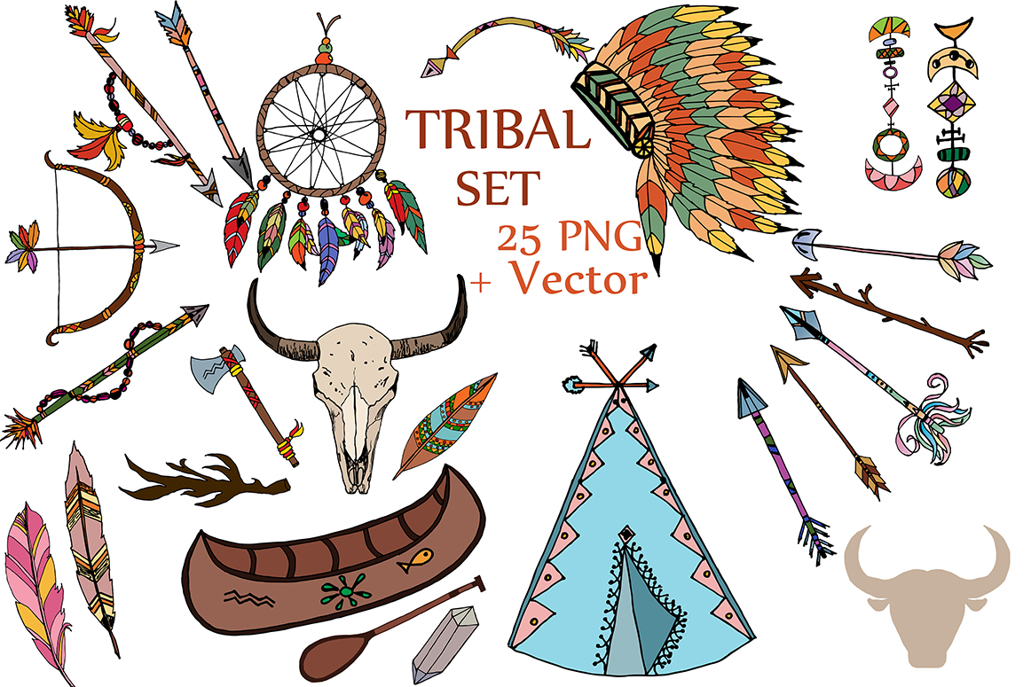 Tribal clipart picture black and white download Tribal clipart,TRIBAL CLIP ART, Headdress clipart Feather clip art Dream  catcher picture black and white download