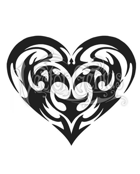 Tribal clipart png black and white stock Tribal Heart Tattoo Flash Bat ClipArt png black and white stock