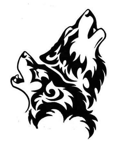 Wolf howling tribal wolves howling clipart - ClipartBarn svg library library