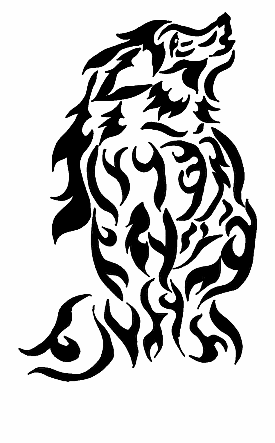 Anthro Wolf Howling Tribal By Ceeme521 Anthro Wolf - Tribal ... vector black and white download