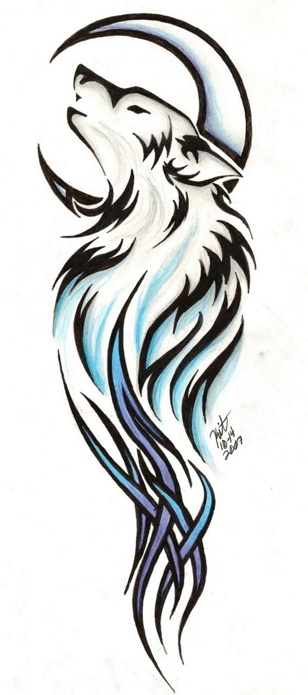 tattoo tribal line stencils | Tribal Wolf Tattoo By ... banner library stock