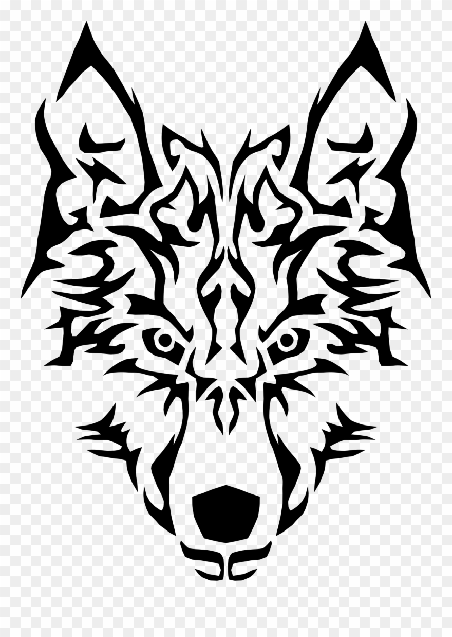 Arctic Wolf Dog Tribe Canidae Computer Icons - Wolf Tribal ... clip art library library