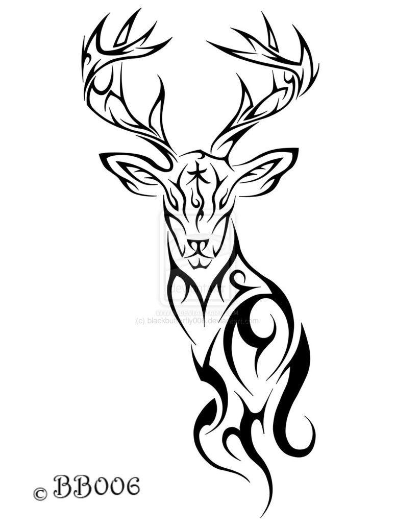 Tribal Deer Tattoo Clipart | Tattoos | Tribal tattoos, Deer ... clip transparent download