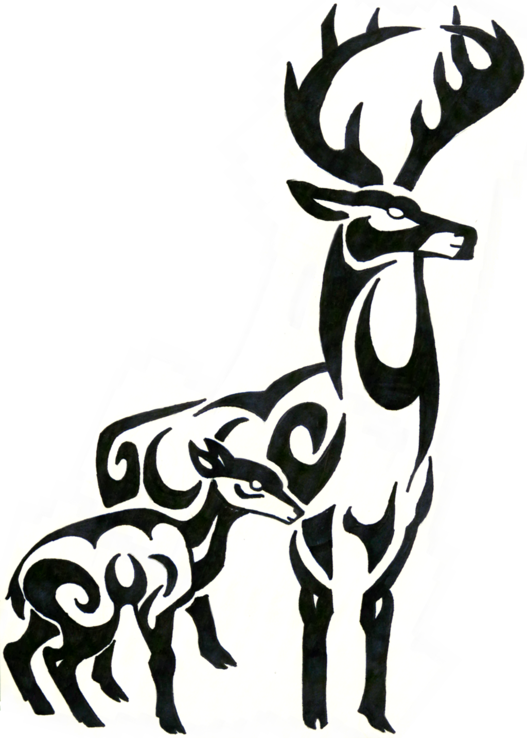 Tribal Deer Head Clipart | Free download best Tribal Deer ... picture transparent