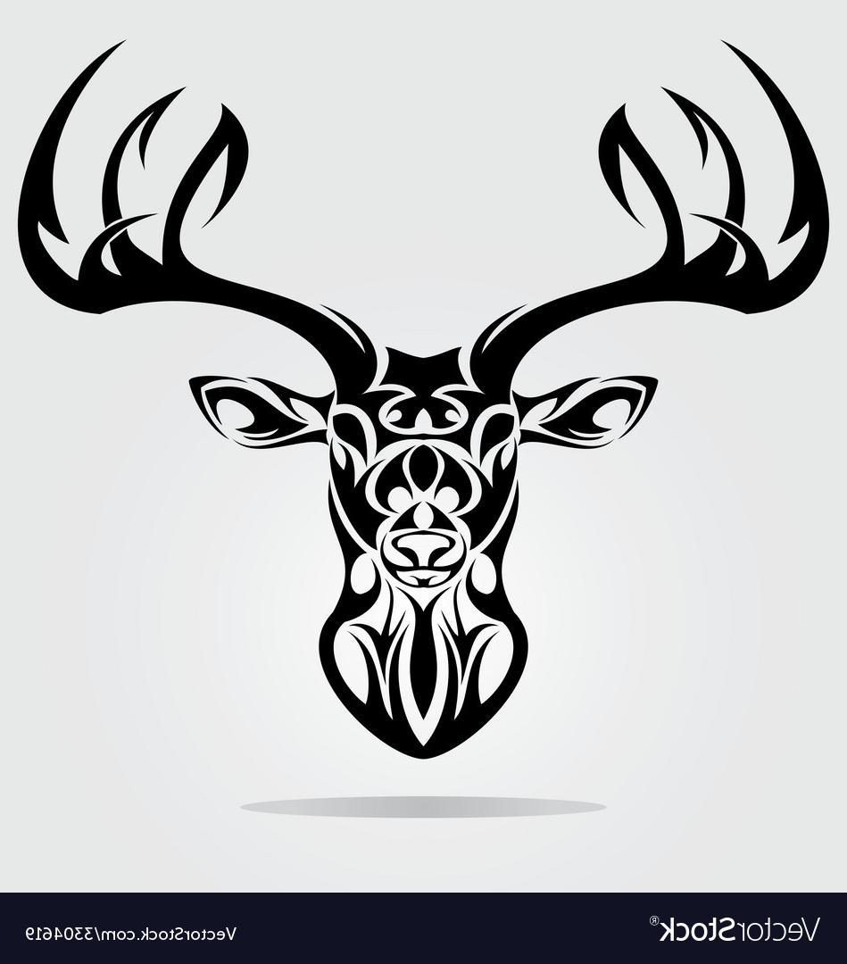 Best HD Tribal Deer Drawings Vector Drawing » Free Vector ... clip transparent download