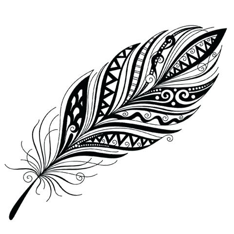 Tribal Feather Drawing | Free download best Tribal Feather ... clipart transparent library